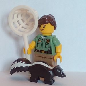 Lego® Minifigs, Collectible Minifigure Series 15 Minifigure Animal Control Woman with Skunk