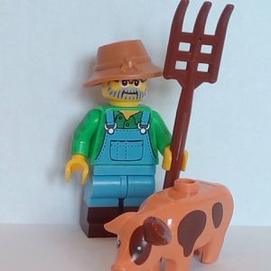 Lego® Minifigs, Collectible Minifigure Series 15 Minifigure Farmer with Pig