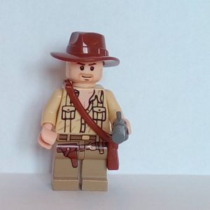 Lego Indiana Jones with open shirt Minifigure