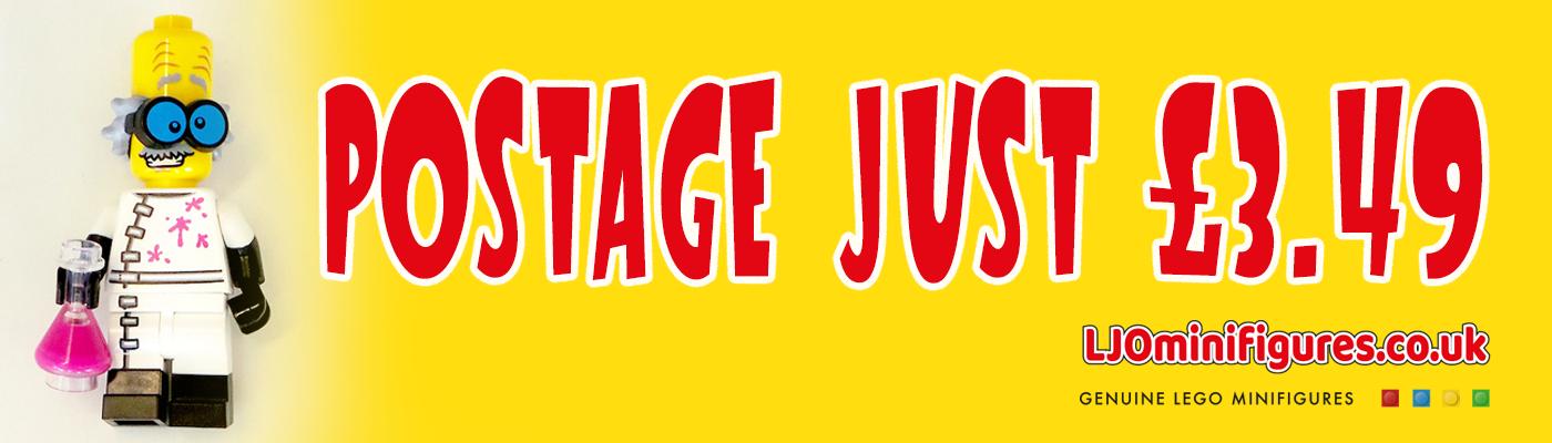 LJO MINIFIGURES 3.49 POSTAGE